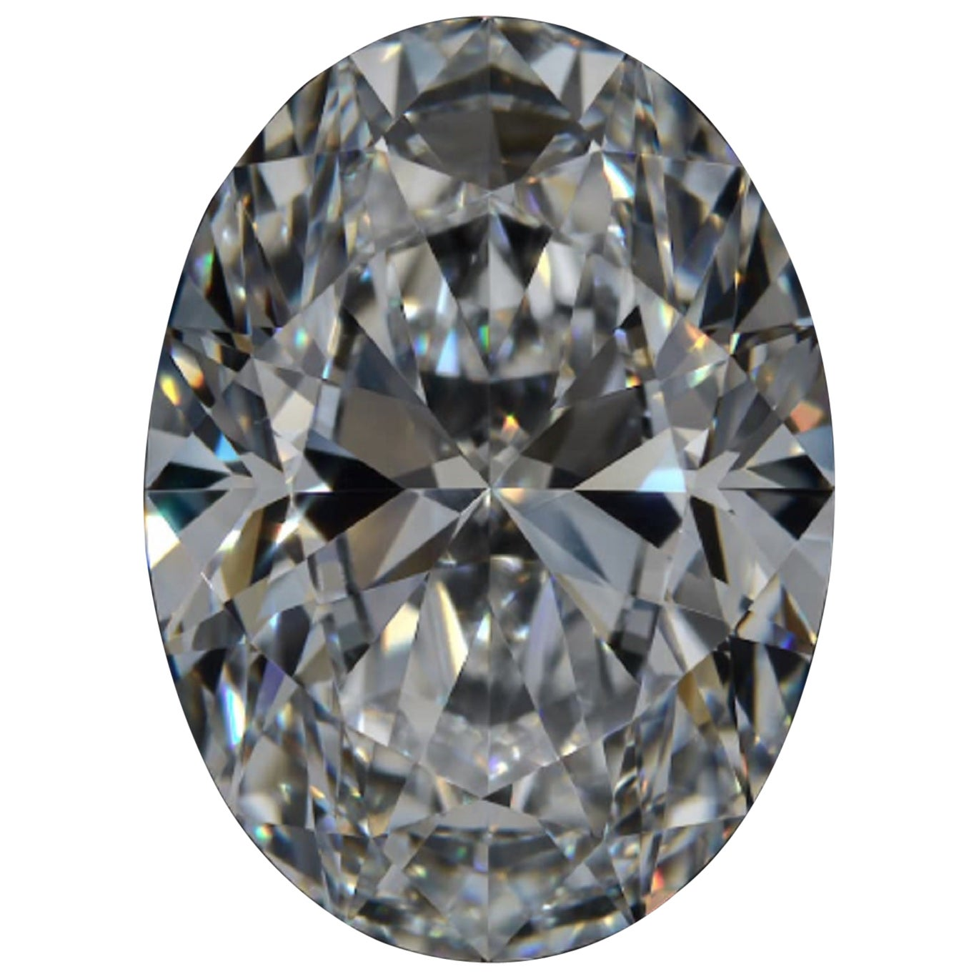 Internally Flawless D Color GIA Certified 8.13 Carat Oval Diamond