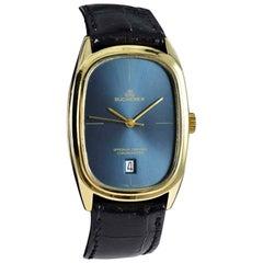 Bucherer Yellow Gold Date Chronometer Automatic Watch