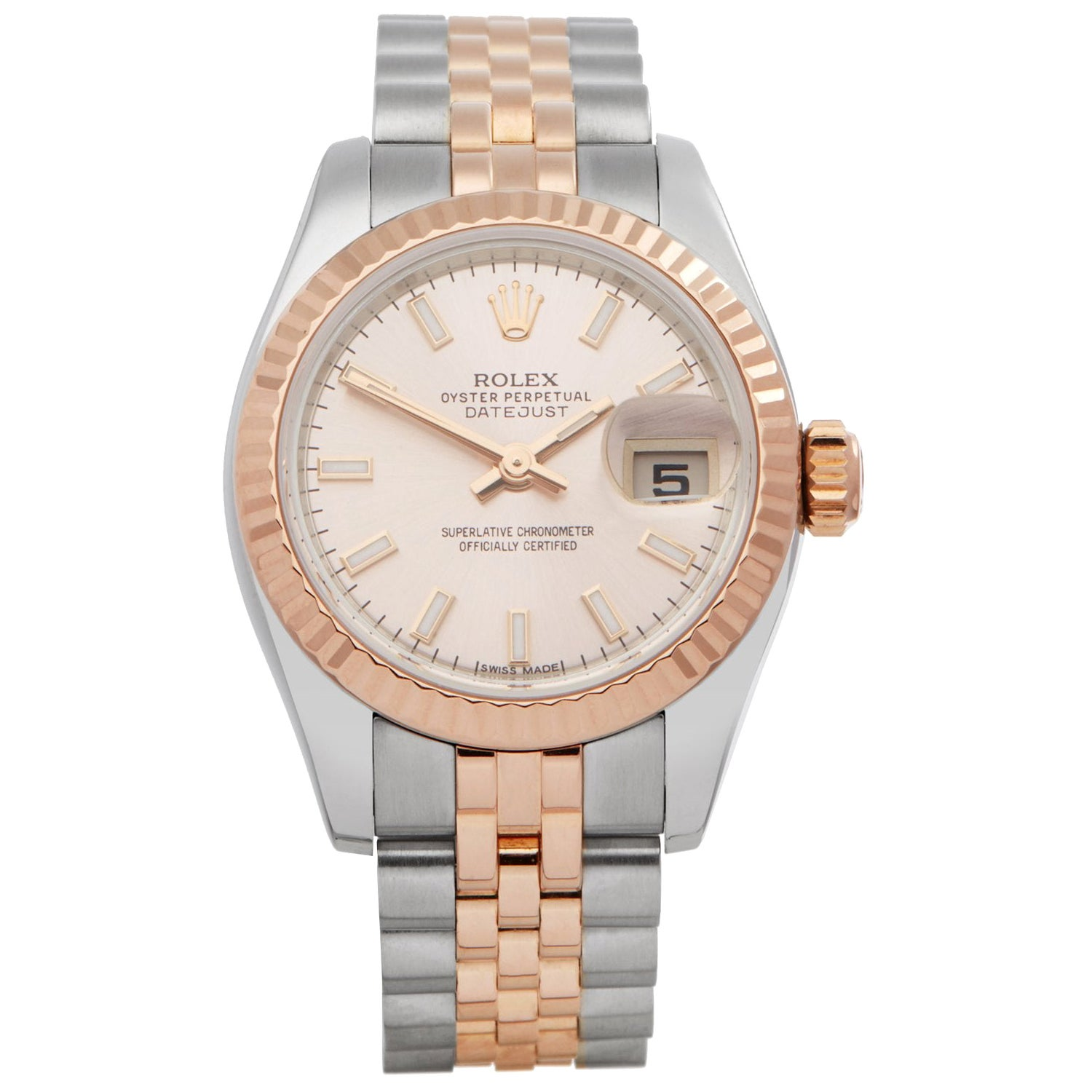 Rolex Datejust 26 179171 Ladies Stainless Steel and Rose Gold Watch