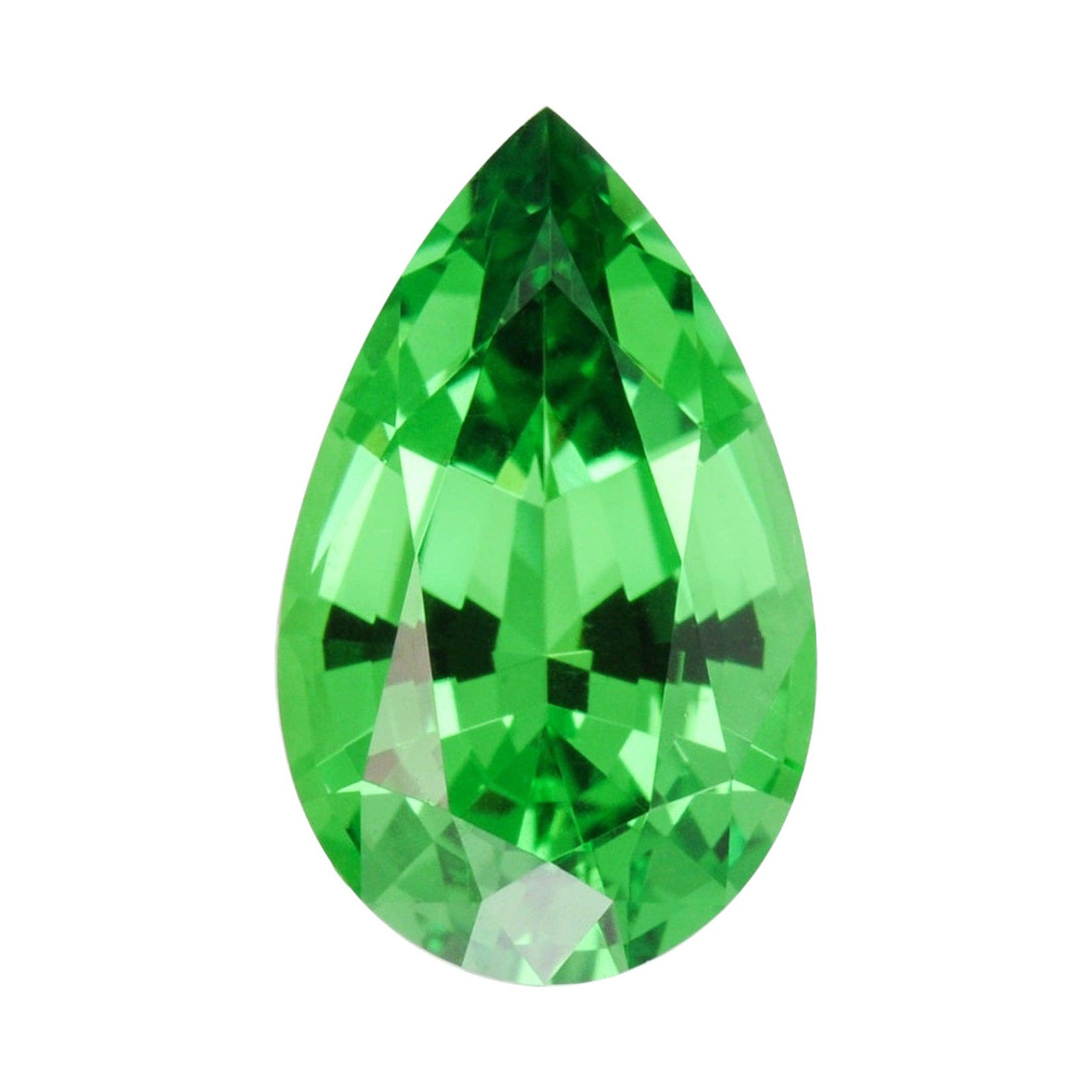 Tsavorite Ring Gem 2.09 Carat Pear Shape Loose Gemstone
