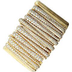 Stunning Henry Dunay Yellow Gold Diamond Sabi Cuff Bracelet