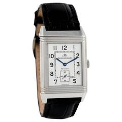 Jaeger LeCoultre Stainless Steel Reverso Grande Taille Wristwatch