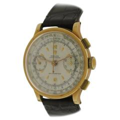 Rolex Yellow Gold White Dial Chronograph Wristwatch Ref 2508