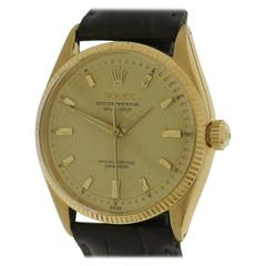 Rolex Yellow Gold Oyster Perpetual Deep Wristwatch Ref 6567