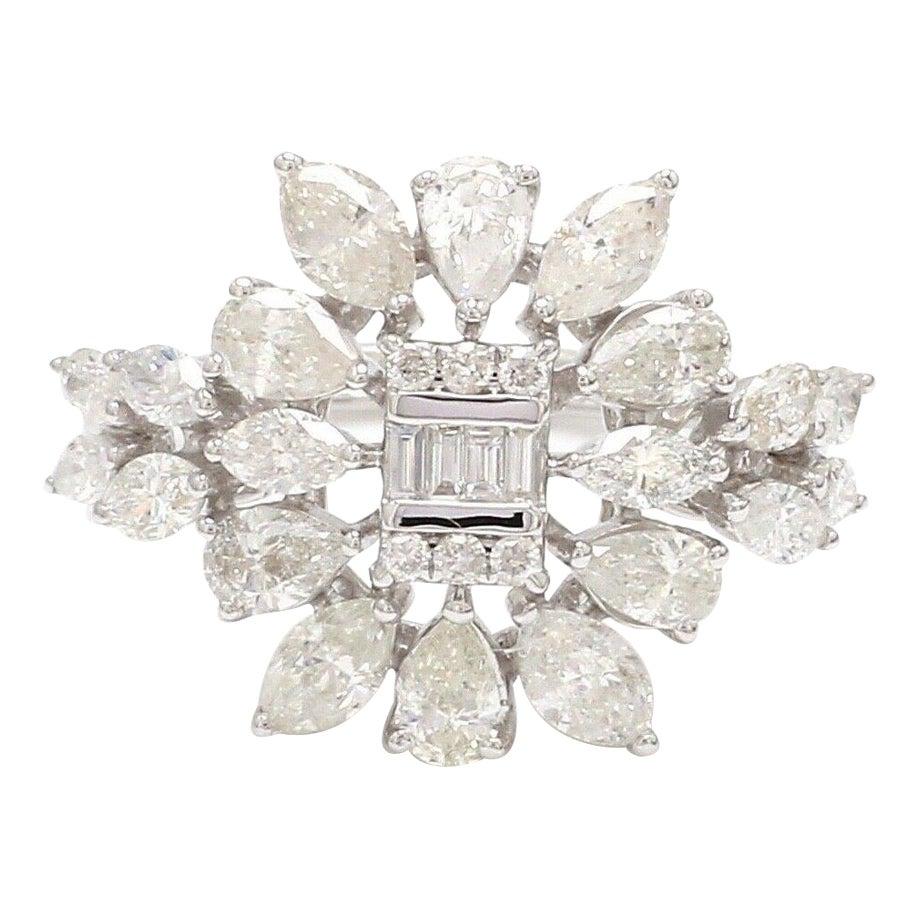 2.50 Carat Diamonds 18 Karat White Gold Engagement Ring