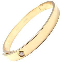 Cartier Diamond Anniversary Gold Bangle Bracelet