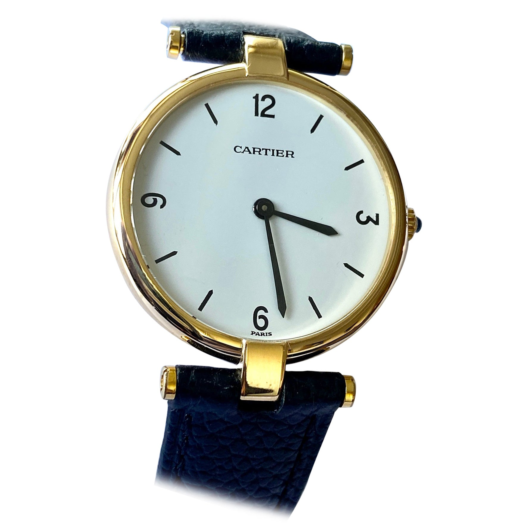 Cartier Paris, Yellow Gold Watch, Model: Vendôme Large Model' Nr 81001