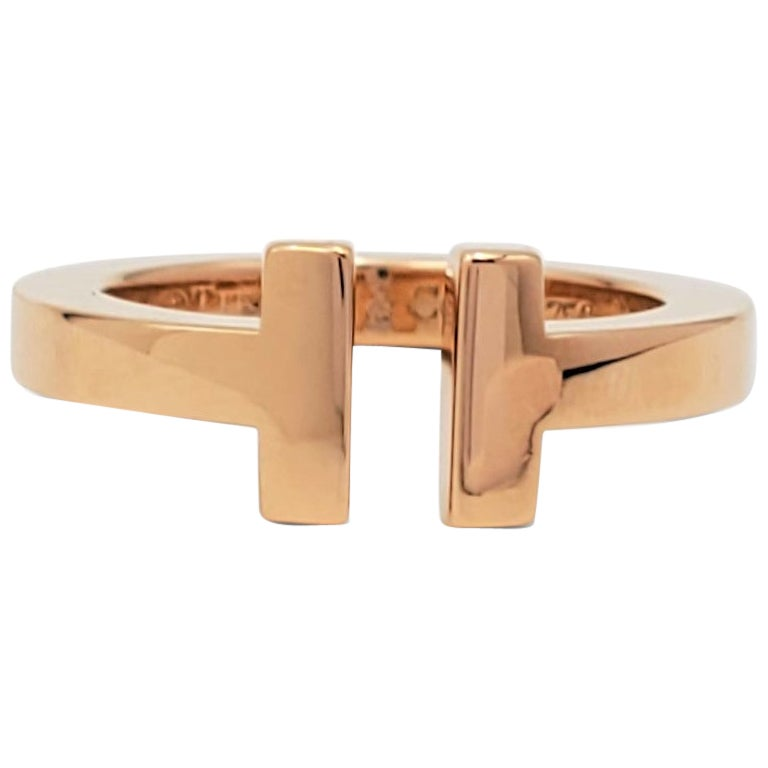 Tiffany & Co. 'Tiffany T' Square Rose Gold Ring