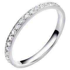 18 Karat Micro Pave Diamond Partial Band Weighting 0.35 Carat
