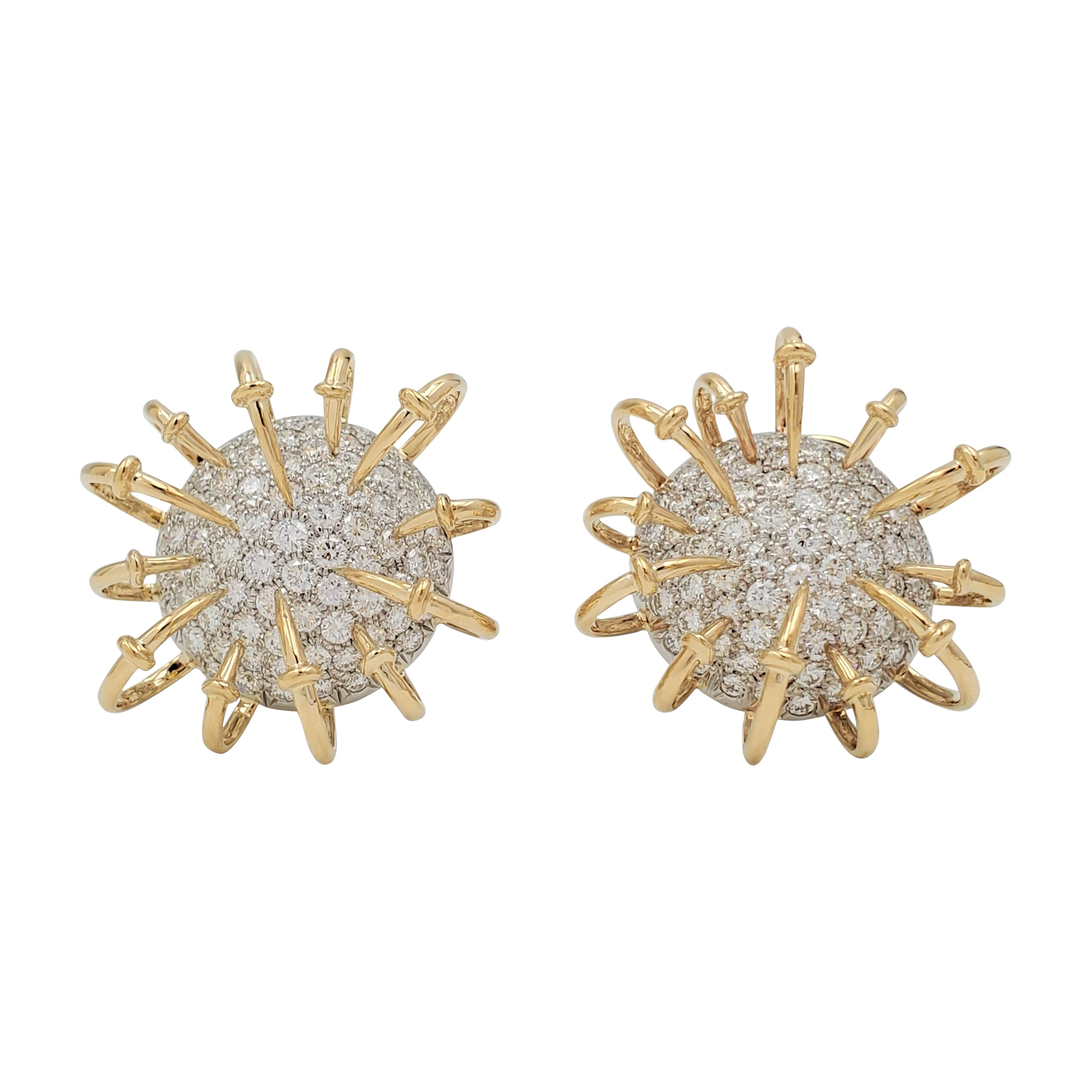 Jean Schlumberger for Tiffany & Co. Platinum Gold and Diamond 'Apollo' Earrings