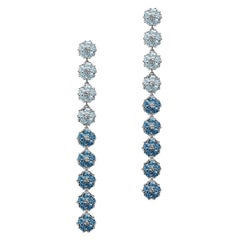 Blossom Gentile Ombre Chandelier Earrings, Sky and London Blue Gemstones