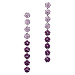 Blossom Gentile Ombre Chandelier Earrings, Lavender and Amethyst Gemstones