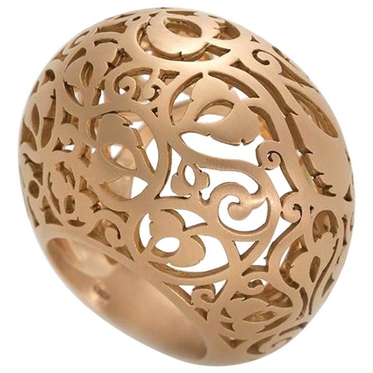 Pomellato Arabesque Collection Ring in 18 Karat Rose Gold