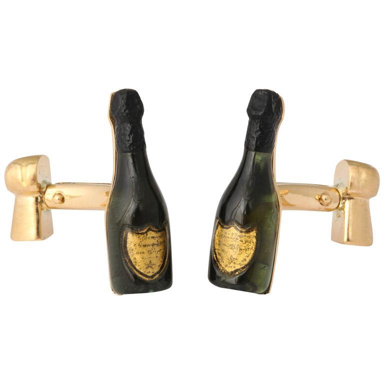 Michael Kanners Champagne Cufflinks