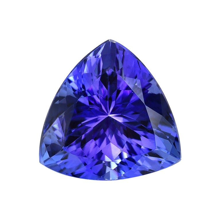 Tanzanite Ring Gem 2.42 Carat Unset Trillion Loose Gemstone