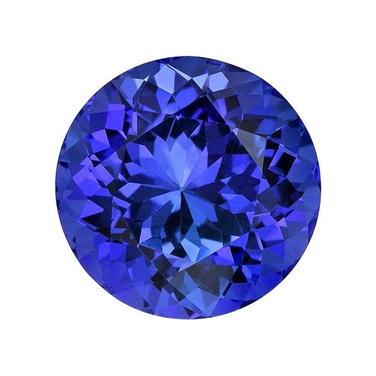 Tanzanite Ring Gem 5.54 Carat Round Unset Loose Gemstone