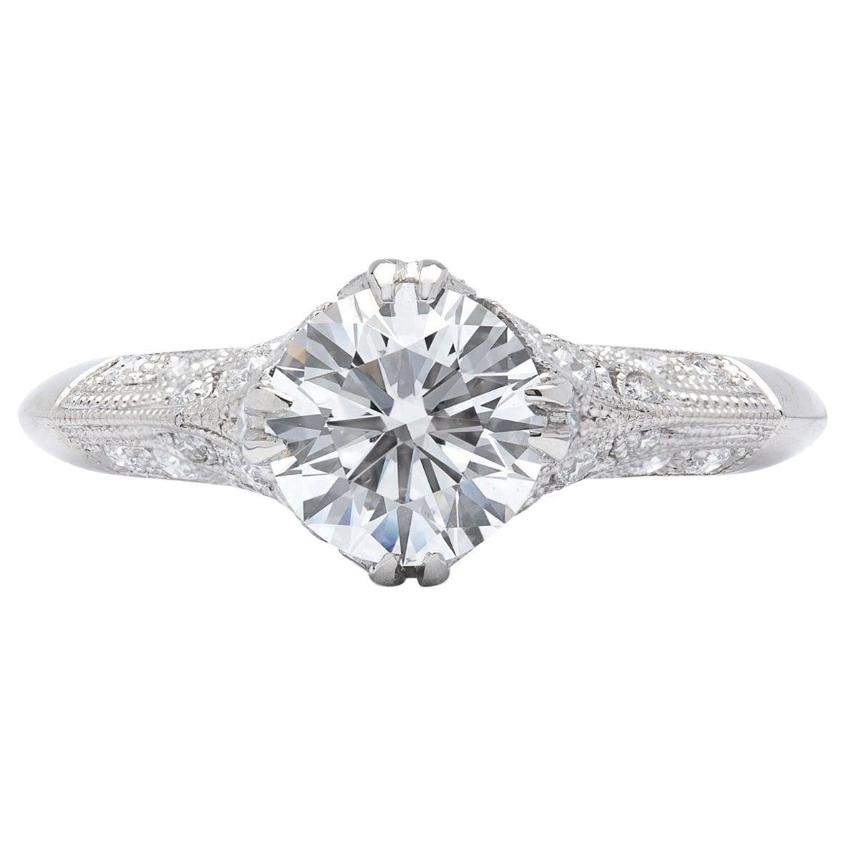 GIA 1.26 Carat F/VS2 Diamond Engagement Ring