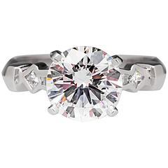 GIA Certified 2 Carat D/VS2 Diamond Engagement Ring Platinum