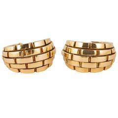 Cartier Gold Hoop Earrings of Heavy Weight