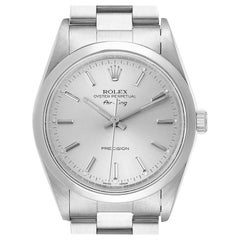 Rolex Air King Silver Dial Smooth Bezel Steel Men's Watch 14000