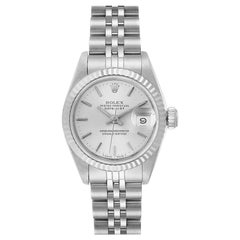 Rolex Datejust Steel White Gold Jubilee Bracelet Ladies Watch 69174 Box Papers