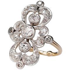 1880s Victorian Diamond gold platinum Ring