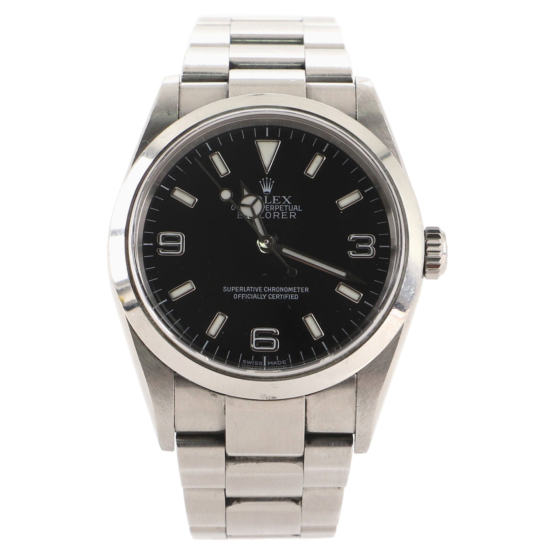 Rolex Oyster Perpetual Explorer Automatic Watch Stainless Steel