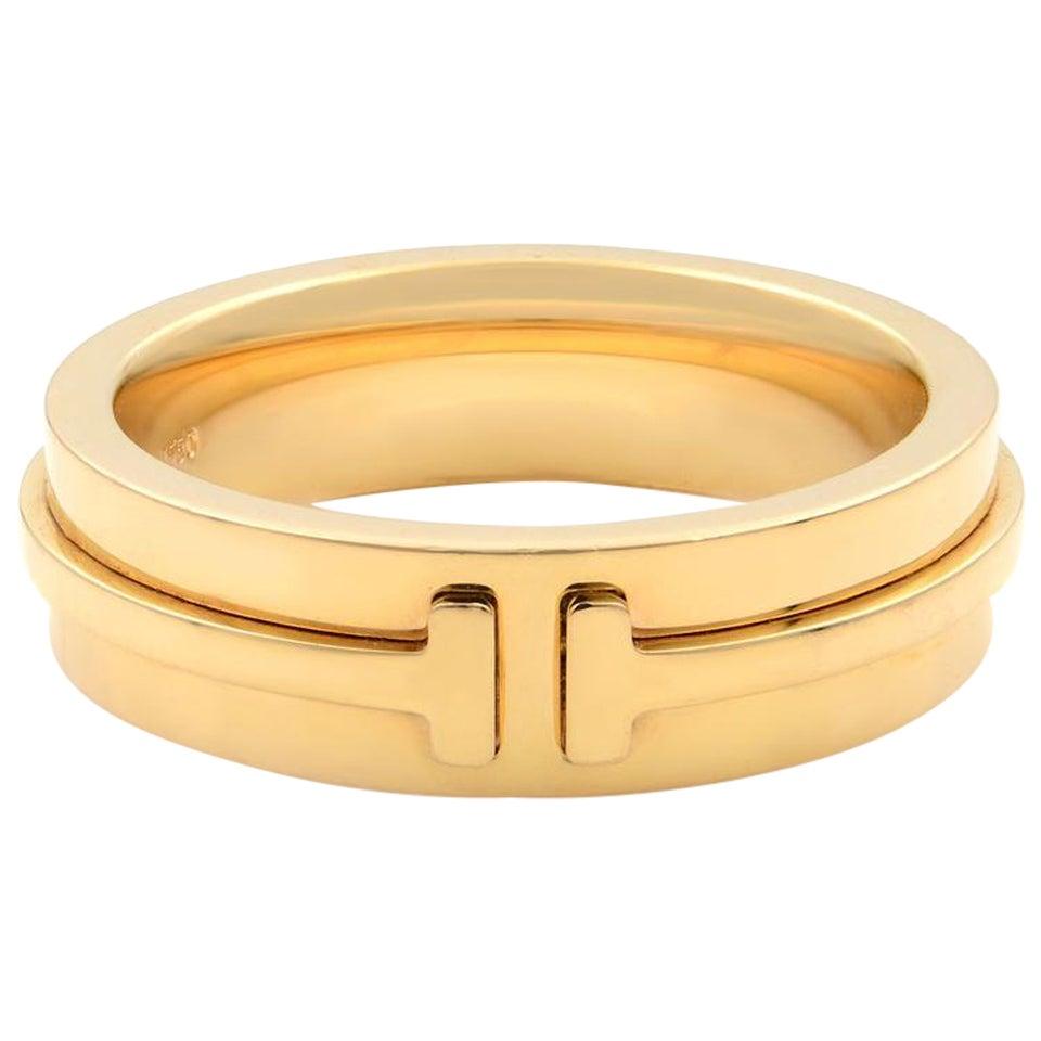 Tiffany & Co. 18 Karat Yellow Gold T Wide Unisex Ring