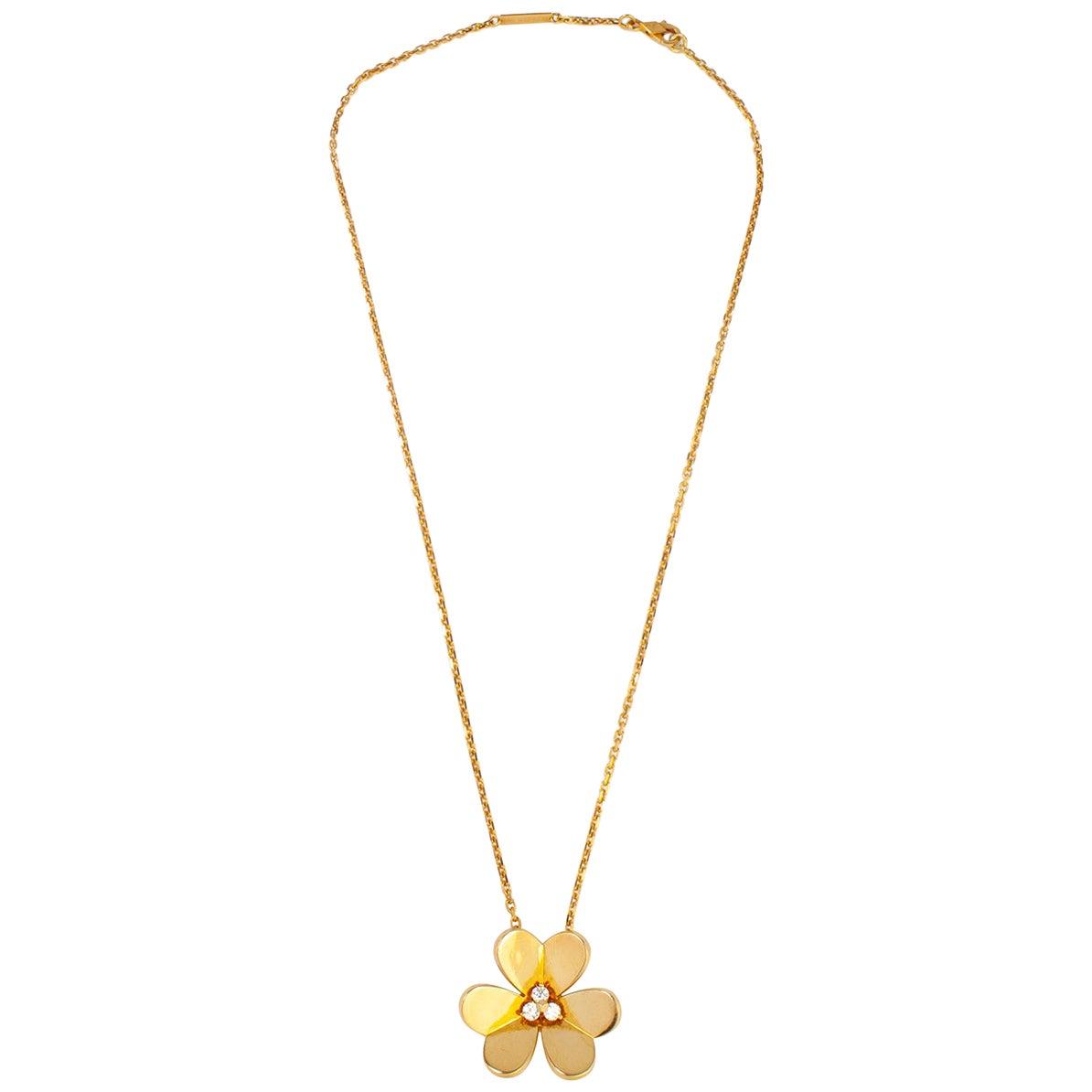 Van Cleef & Arpels 18 Karat Yellow Gold Ladies Necklace