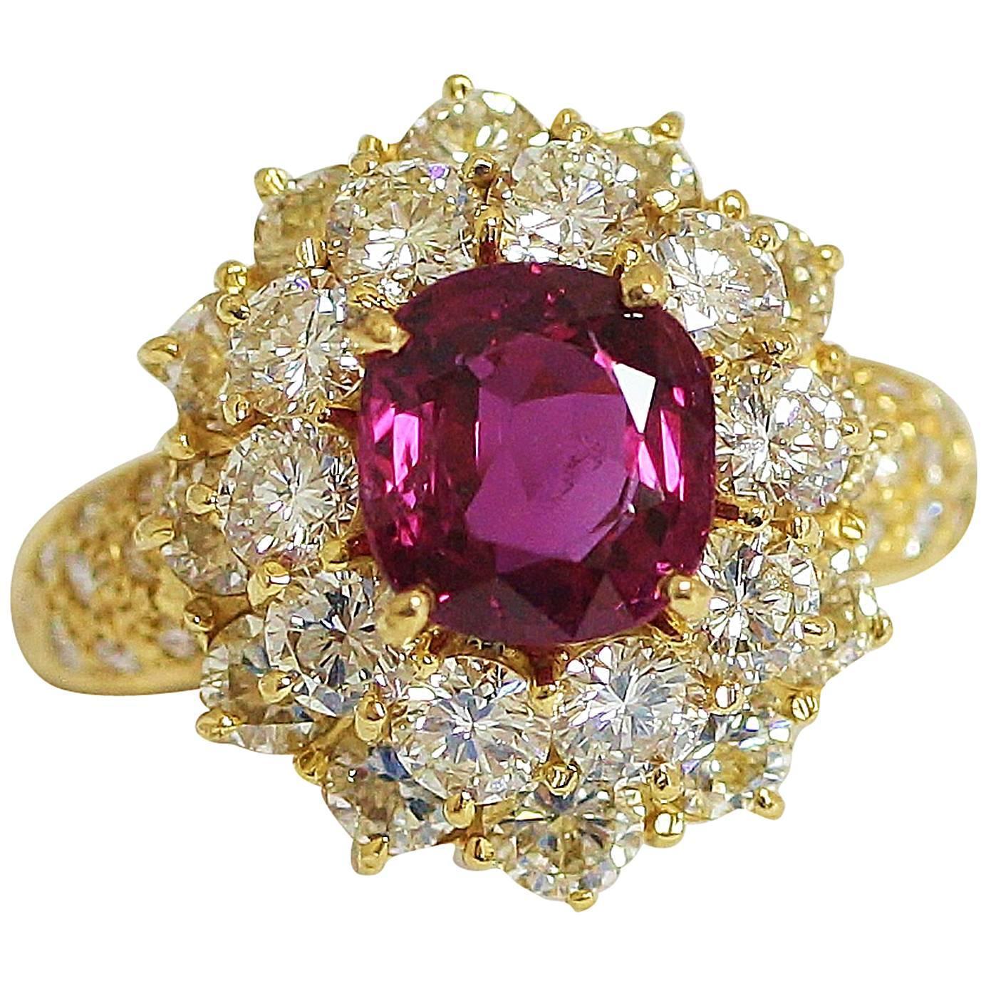crimson ruby gold ring at 1stdibs