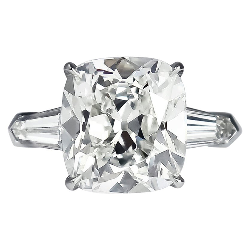 J. Birnbach GIA Certified 4.38 Carat H VS1 Cushion Brilliant Cut Diamond Ring