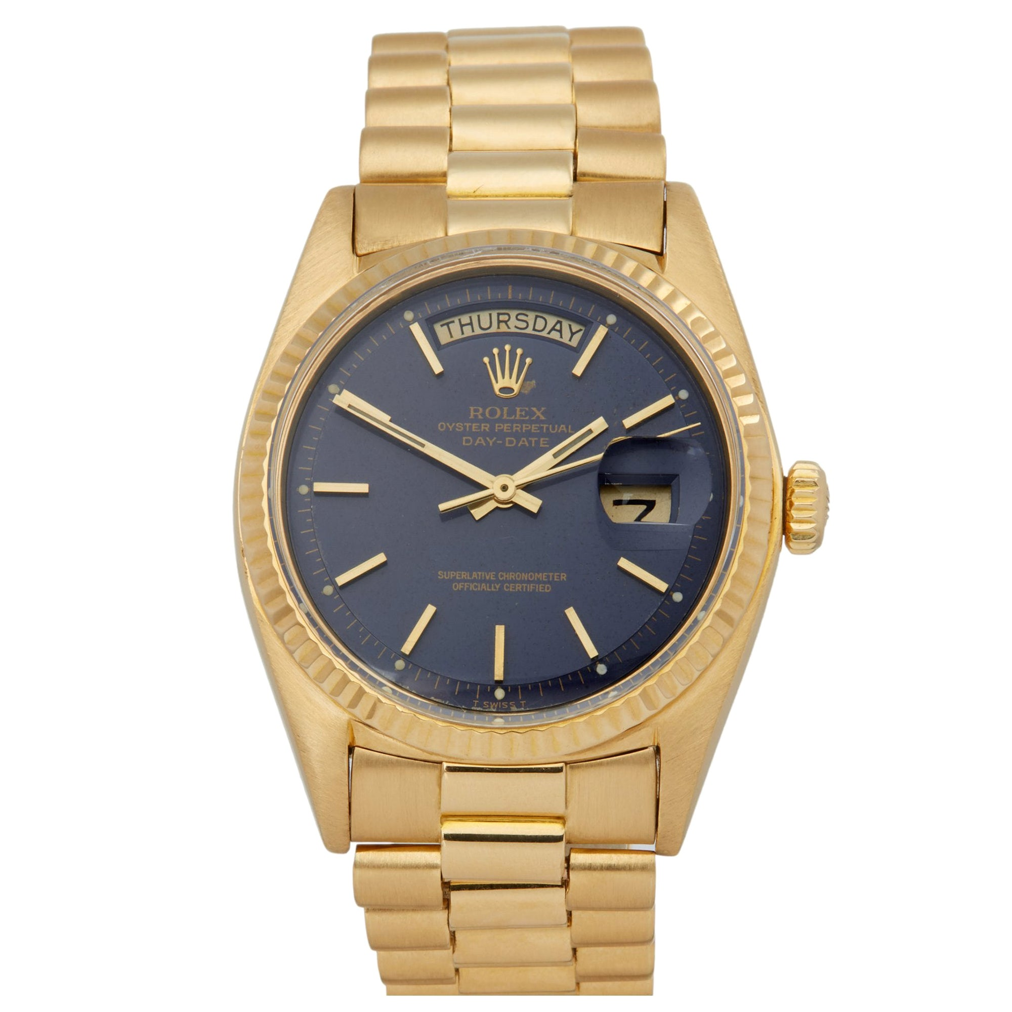 Rolex Day-Date 36 1803 Unisex Yellow Gold Watch