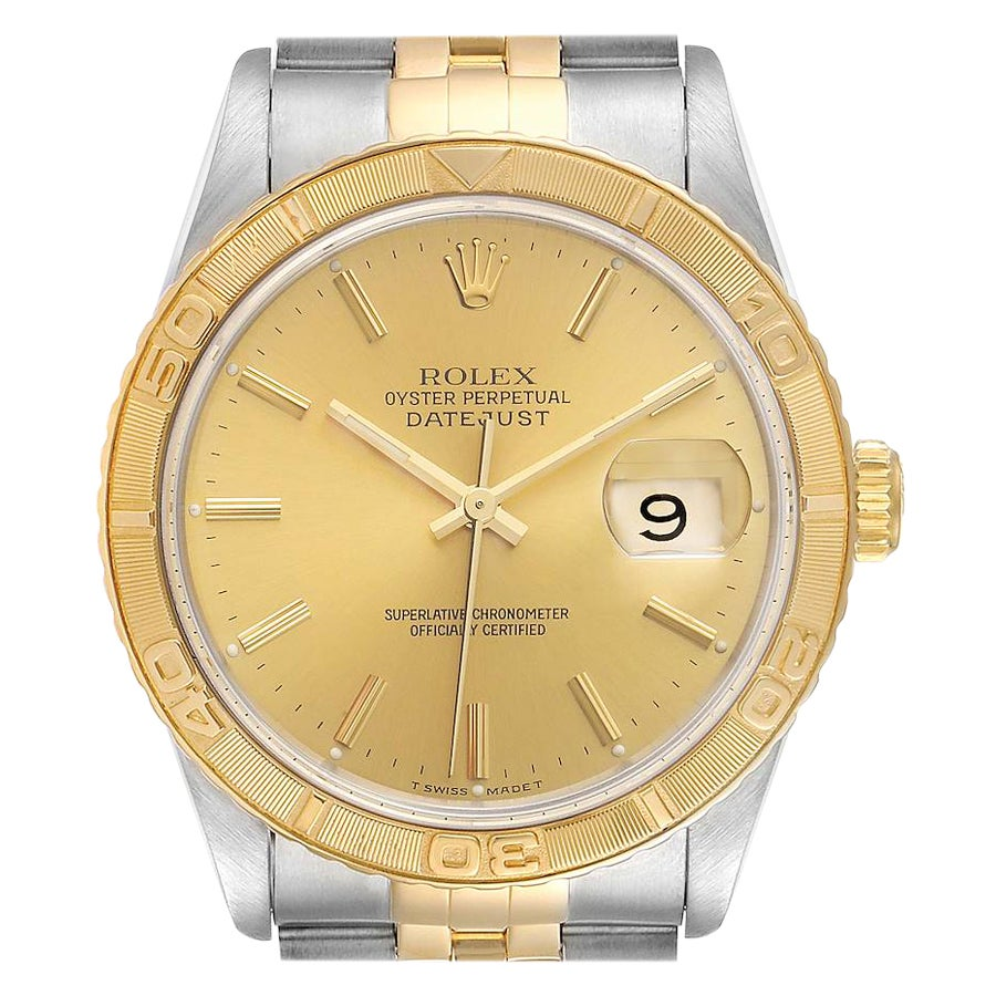 Rolex Datejust Turnograph Steel Yellow Gold Men's Watch 16263
