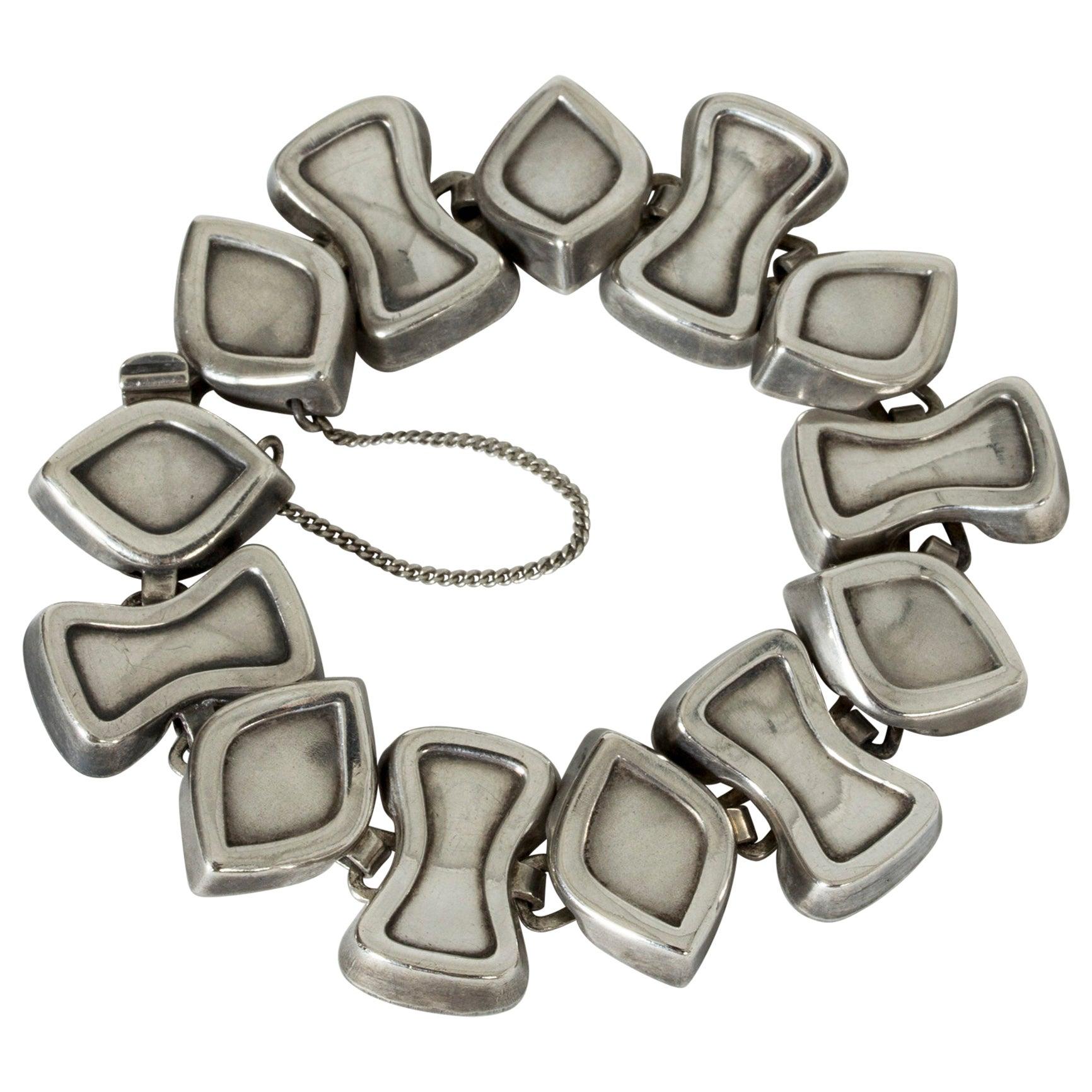 Silver Bracelet from Atelier Borgila, Sweden, 1958