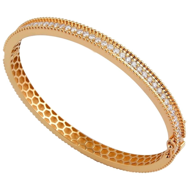 1.80 Carat Diamond 18 Karat Gold Bangle Bracelet