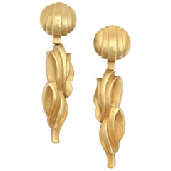 Kiesselstein-Cord Clip-on Flame Earrings