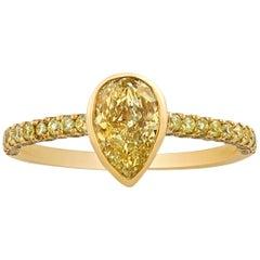 Yellow Diamond Ring, 1.01 Carat