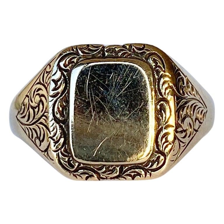 Vintage 9 Carat Gold Signet Ring