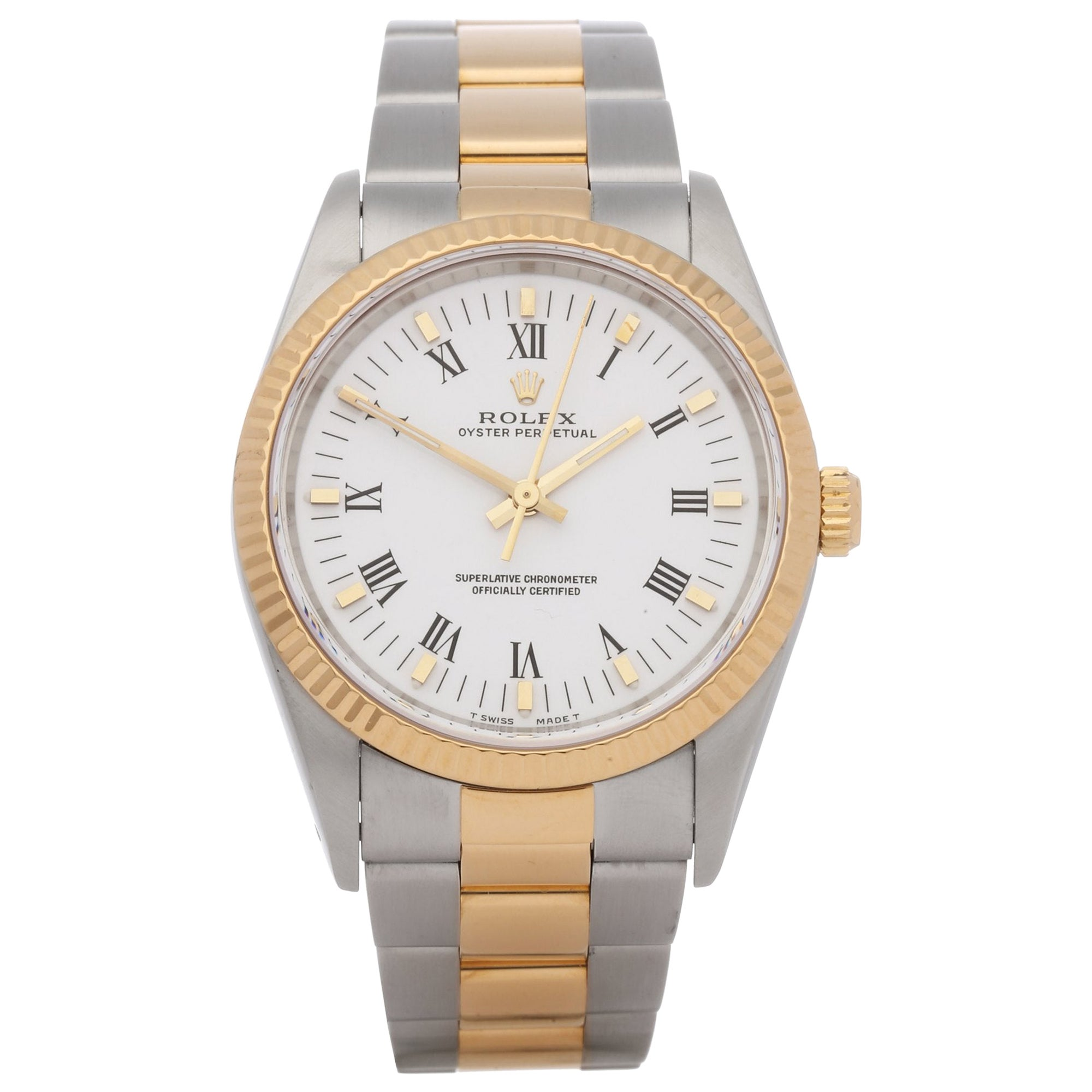 Rolex Oyster Perpetual 34 14233 Unisex Stainless Steel and Yellow Gold Watch
