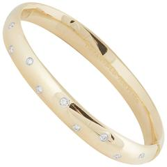 Tiffany & Co. Diamond Gold Bangle Bracelet