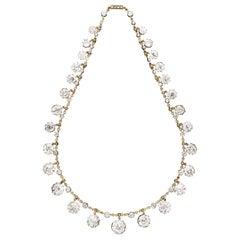 Antique Fringe Necklace with 50 Carat of Old Mine Cut Diamonds, Hancocks