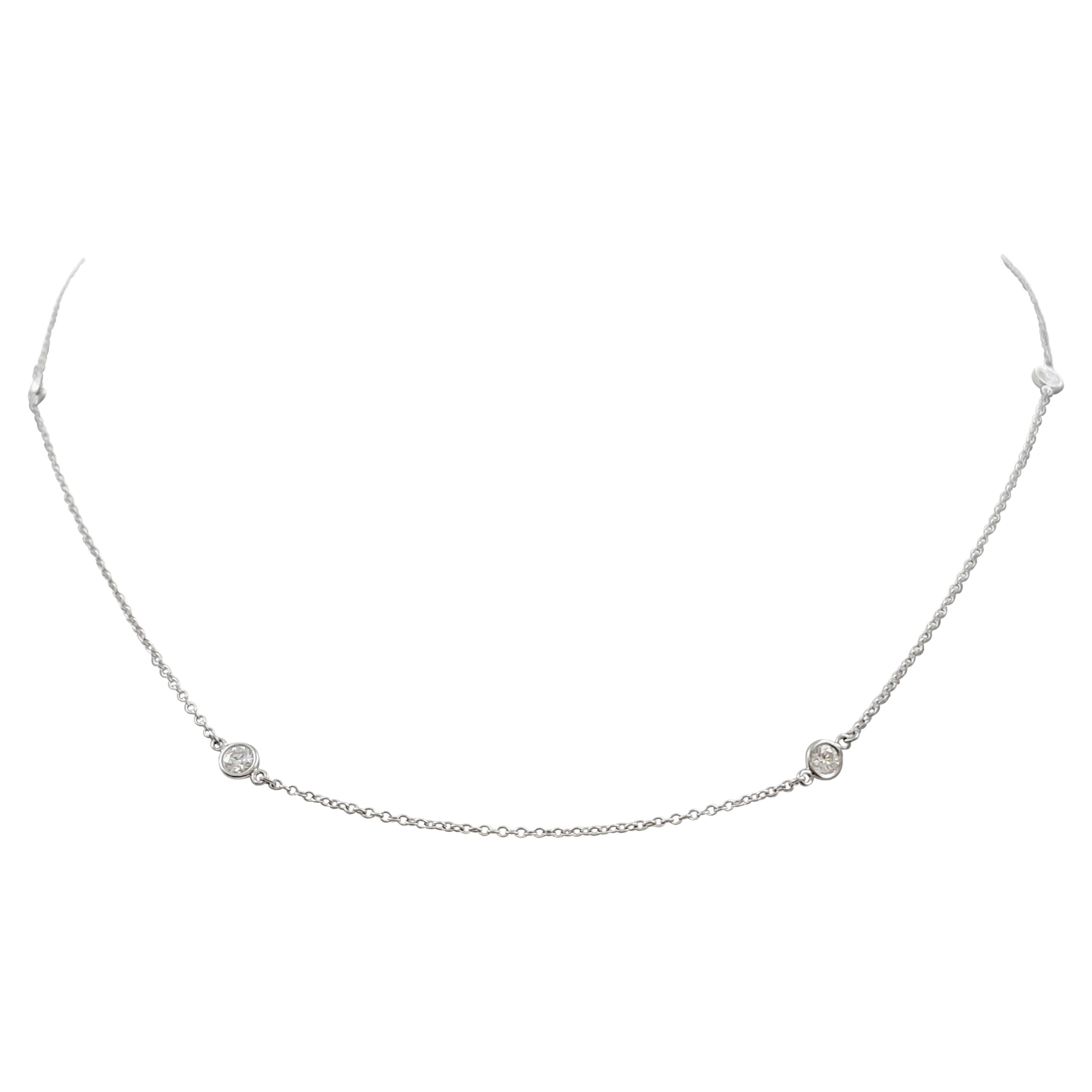 Elsa Peretti for Tiffany & Co. Platinum 'Diamonds by the Yard' Necklace