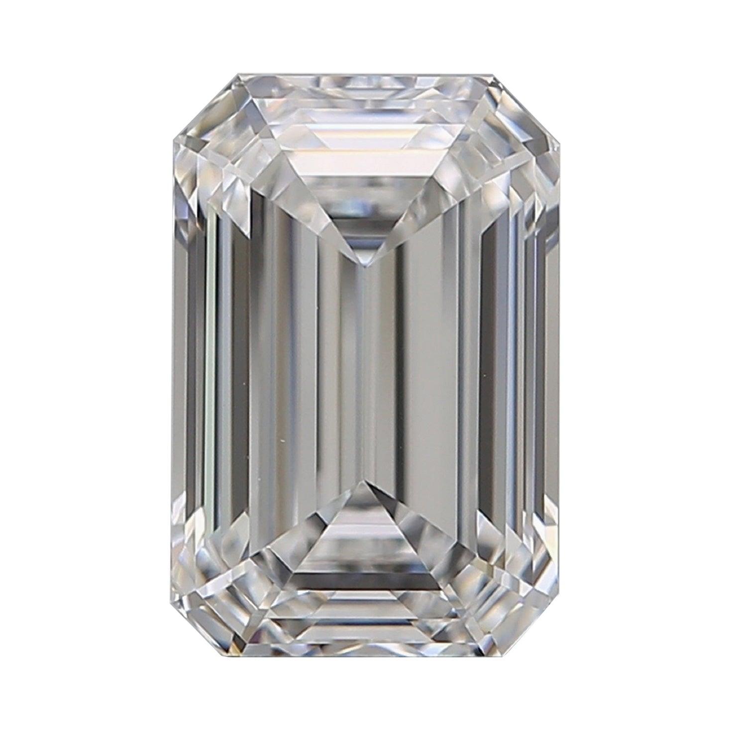 GIA Certified 2.20 Carat Emerald Cut Diamond D Color VVS1 Clarity