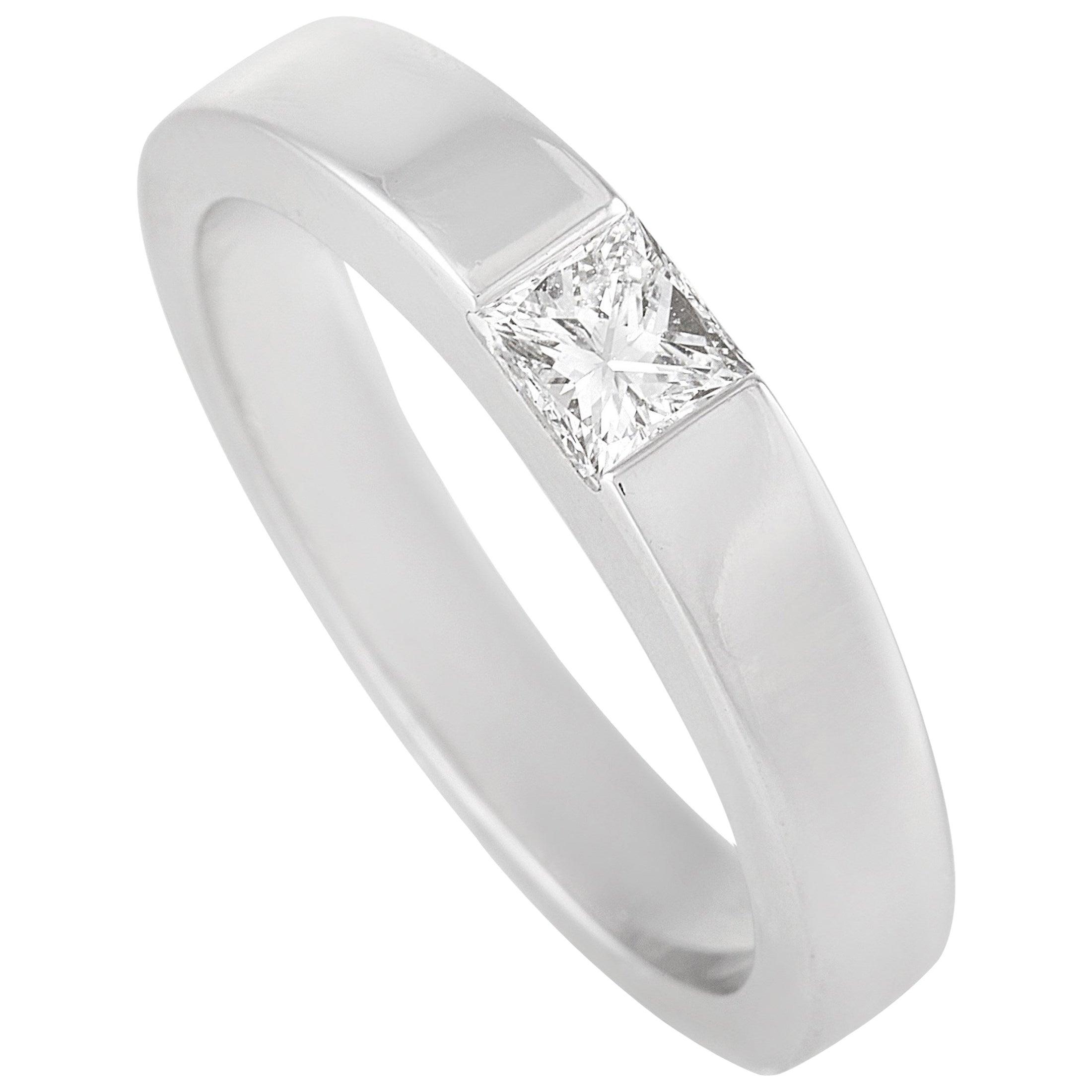 Cartier 18 Karat White Gold 0.25 Carat Diamond Ring
