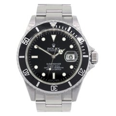 Rolex 16610 Submariner Black Dial and Bezel Stainless Steel Watch