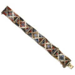Antique Scottish Agate Gold Bracelet