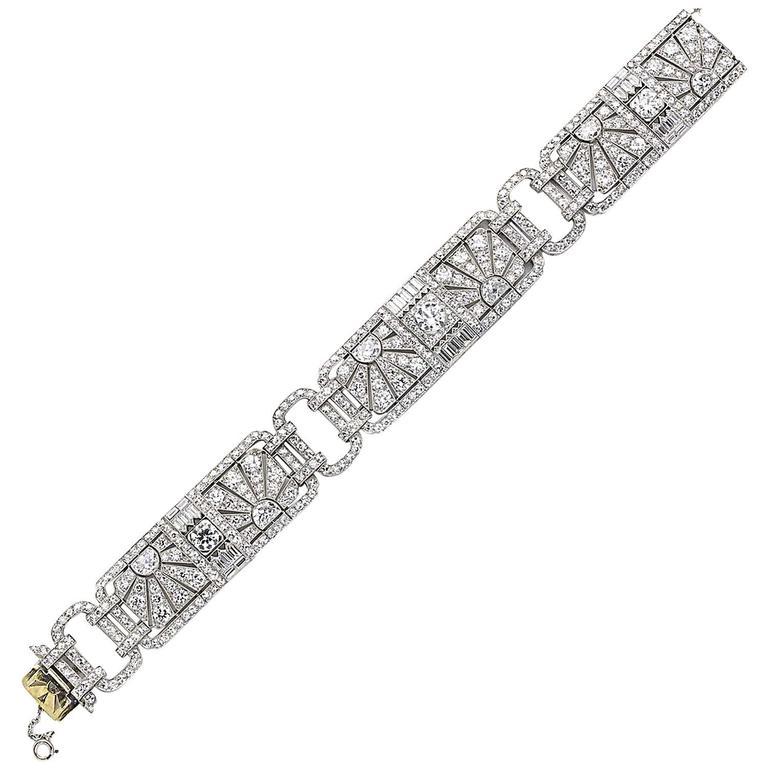 Fine Tiffany & Co. Art Deco Diamond Bracelet