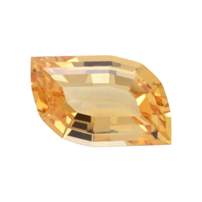 Imperial Topaz Ring Gem 2.68 Carat Leaf Loose Gemstone