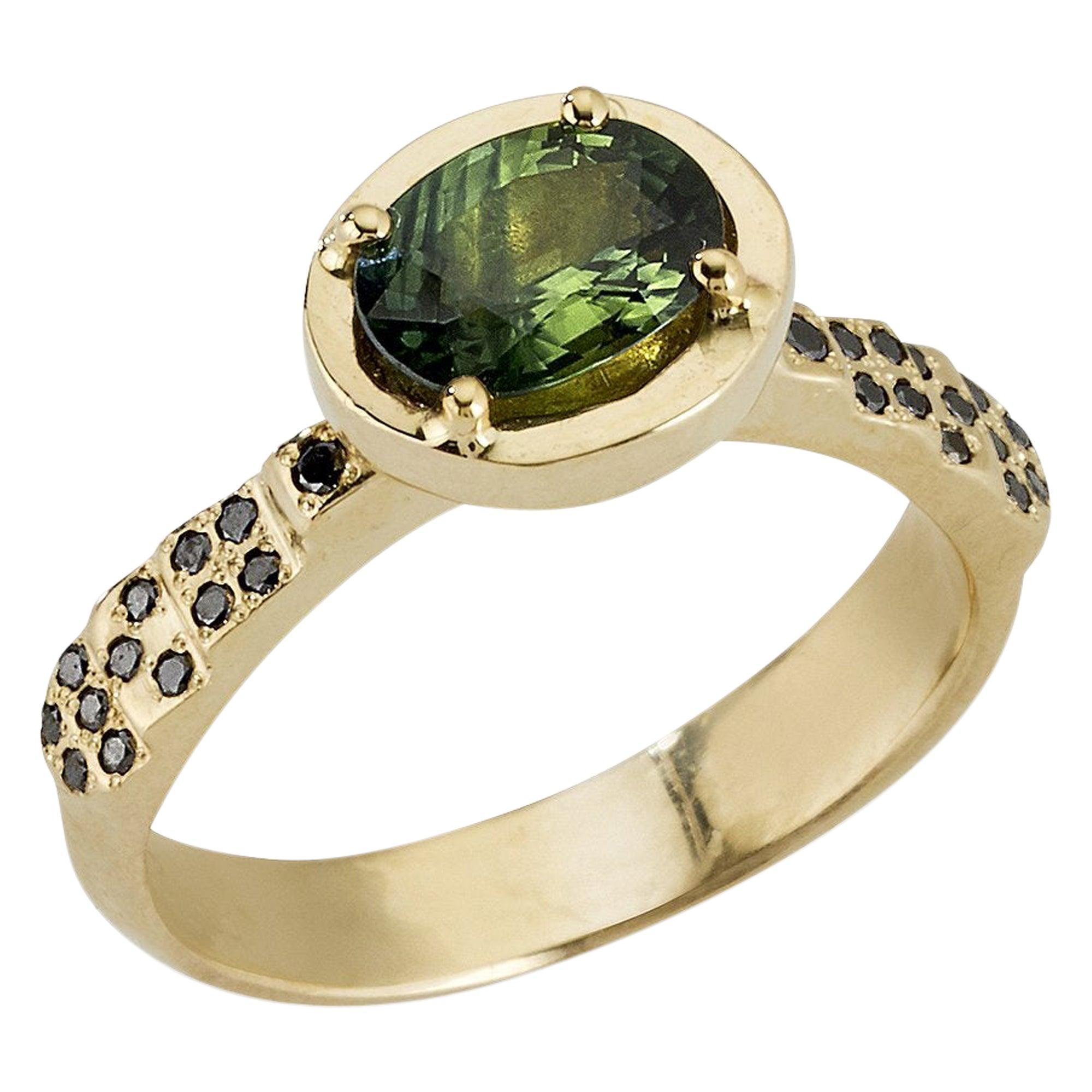 Charlemagne Ring, 14 Karat Yellow Gold