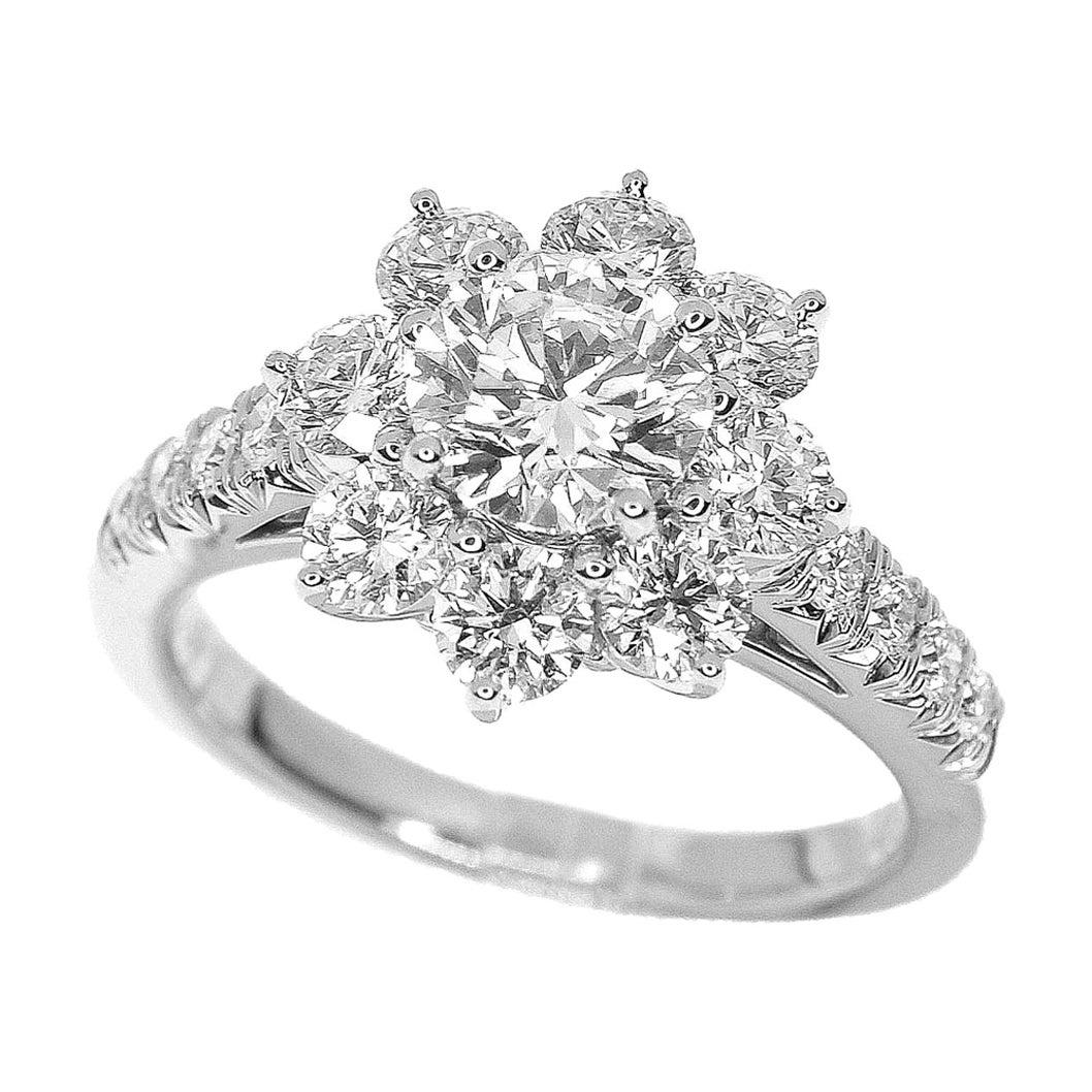 Harry Winston Sunflower by Harry Winston Small Diamond Platinum Ring